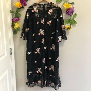 Cooper St Dresses - Cooper St Myrtle Floral Lace Dress (Plus Size)
